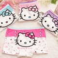 4 Pçs/lote Crianças das Meninas Roupa Interior de Algodão Olá Kitty Crianças Cuecas Boxer cueca calcinha infantil Dos Desenhos Animados Do Bebê menina
