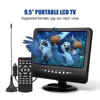 9,5 дюймовый портативный ЖК-телевизор аналоговый автомобильный аналоговый мобильный ТВ пульт дистанционного управления для телевизора ...