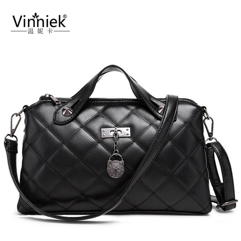 ФОТО Luxury Handbag Women Bag Designer Diamond Lattice PU Leather Fashion Shoulder Bag Casual Famous Brands Female Flap Messenger Bag