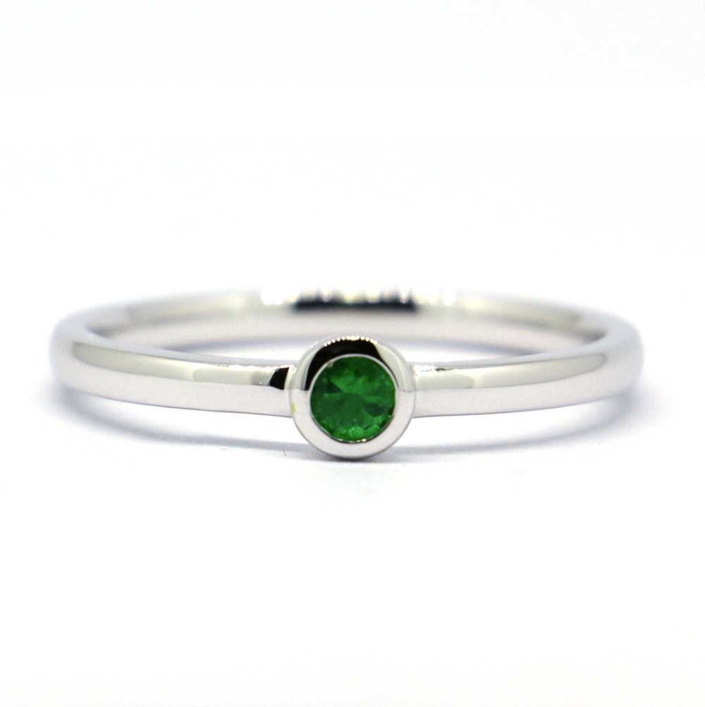 Wellmade Solid 925 Sterling Silver&Natural Stone Stackable Ring