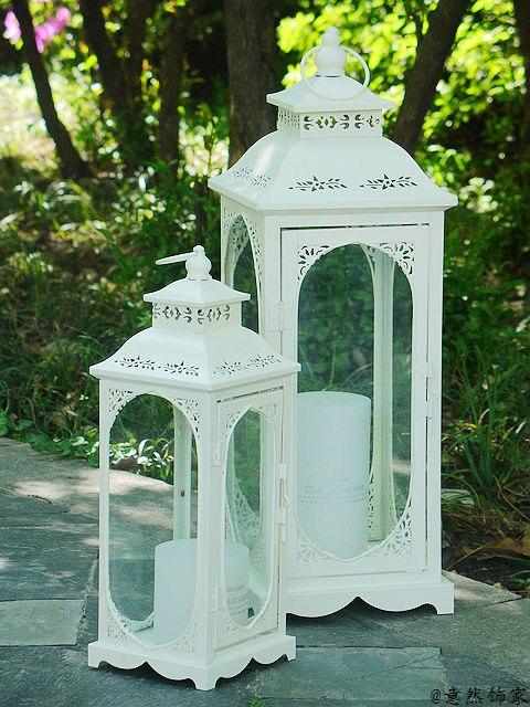 fashion iron lantern windproof candle table weddin