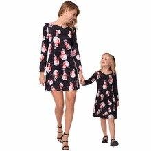 Новые платья для мамы и дочки, одежда для рождественской семьи, рождественские украшения, платье для мамы и дочки