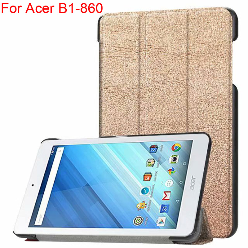 Tablet Cover For Acer B1-860 8.0 inch Shell Holder AcerB1-860A Flip Smart Case Sleeve B1 860 Book Style Protector Skin