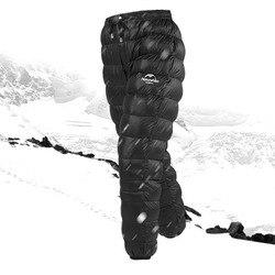 Naturehike Outdoor unten hosen wasserdichte tragen männer frauen bergsteigen camping warme winter weiße gans unten hosen keine größe S, L