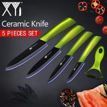 XYj Kitchen Knives Ceramic Knife 3″ 4″ 5″ 6″ Zirconia Japanese Knife Peeler Black Blade Paring Fruit Ceramic Cooking Knives Set