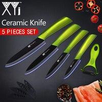 XYj Kitchen Knives Ceramic Knife 3 4 5 6 Zirconia Japanese Knife Peeler Black Blade Paring