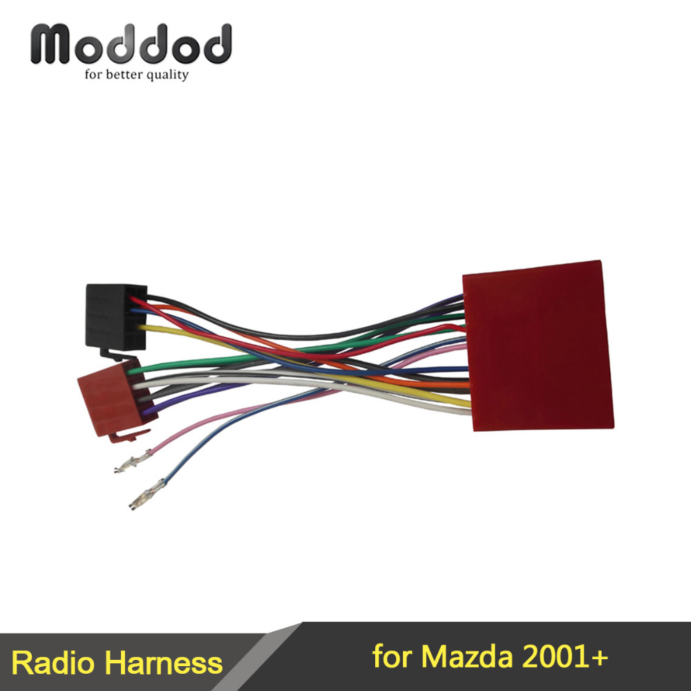 hight resolution of iso wiring harness adaptor for mazda 2001 stereo wire cable aftermarket radio plug adapter connector