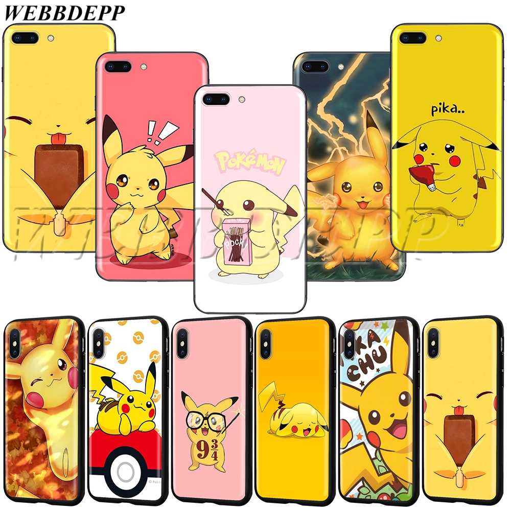WEBBEDEPP Pikachu TPU soft Case for iPhone XS MAX XR X 8 7 6 6S Plus