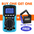 all-sun 3in1 Digital Multimeter Voltmeter Ammeter Ohmmeter DC AC EMF Multimeter Automotive Tester EM5511 +Battery Tester BT1A