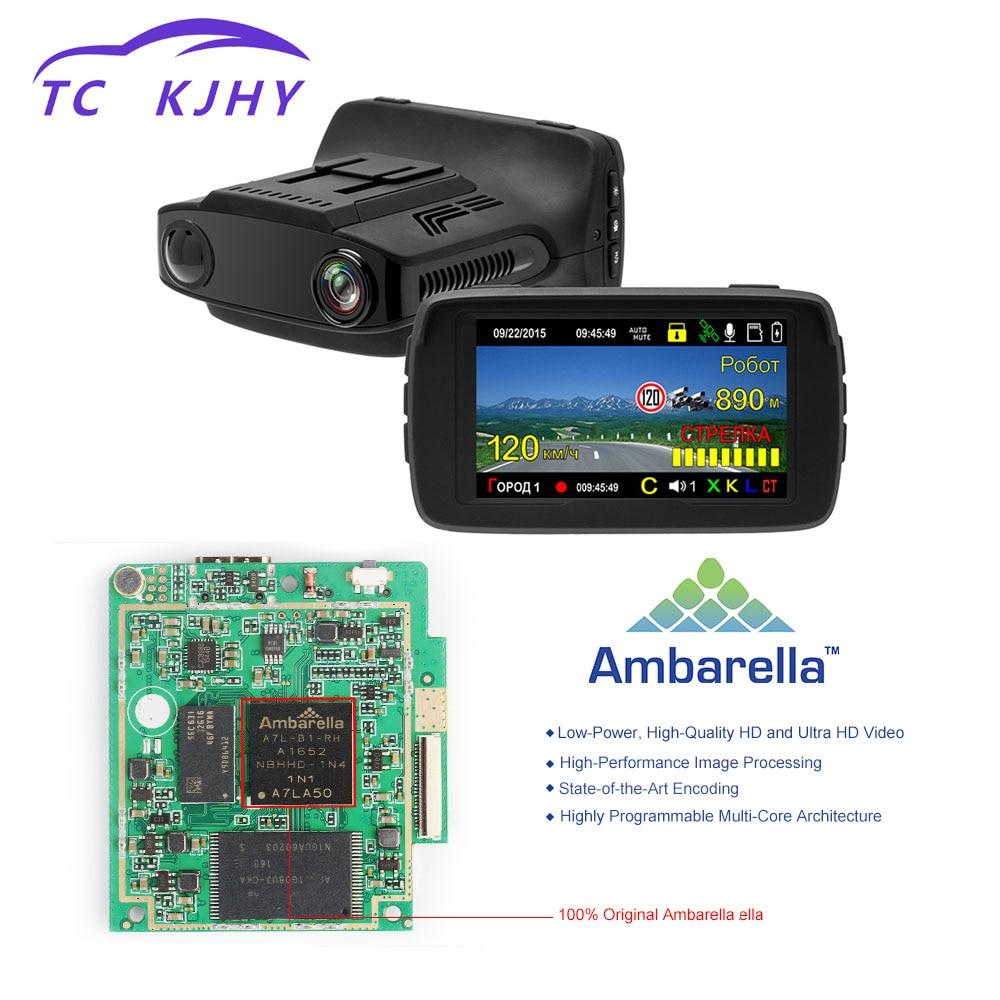 2018 Auto 3 In 1 Video Recorder Registrar Dash Cam Car DVR 2.7 Inch HD 1080P Dash Cam Car DVR Camear Radar Detector Gps Display