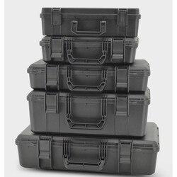 Caja de herramientas de seguridad protectora Caja de Herramientas maleta resistente a impactos caja de herramientas de plástico sellada a prueba de golpes con esponja
