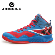 Jinbeile High-top Sneakers Basketball Shoes Man Light Ankle Boots Cushioning Basketball Shoes Men Anti-skid Outdoor Sport Shoes цена 2017