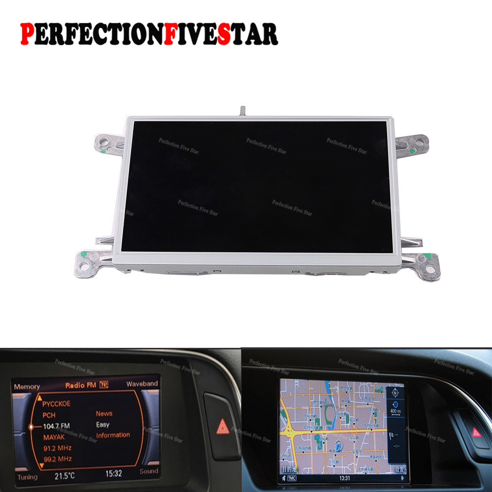 "8T0919603G E F For Audi A4 B8 A5 Q5 2010 2012 2015 MMI Multi Media Display Unit 6.5"" LCD Screen GPS Nav Monitor 8T0 919 603 E"