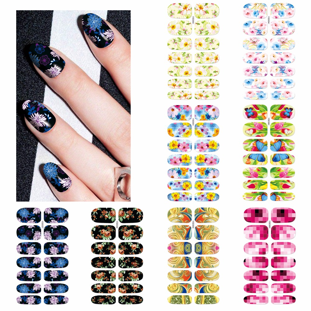 Purposeful Wuf 1 Sheet Water Transfer Foil Nails Sticker Butterfly Flower Design Nails Stickers Nails Styling Tools Water Film Paper Decals Stickers & Decals Nails Art & Tools