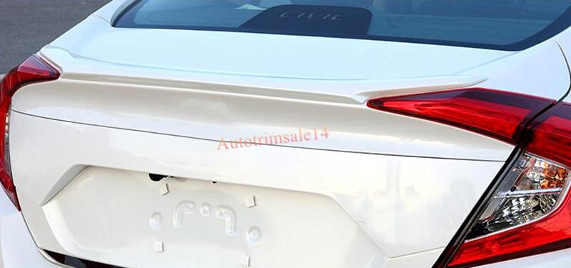 Для Хонда Цивик седан 10-м 2016 2017 Белый задний багажник спойлер крыло багажник губ 1шт