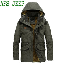 Winter Overcoat Casual 2017 AFS JEEP Coat Keep warm Jackets Mens outwear brand Coat Leisure business 160
