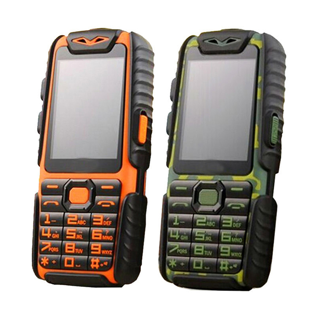 Guophone A6 Rugged Power Bank Phone TFT Loud Speaker Flashlight Dual SIM Senior Outdoor CellPhone