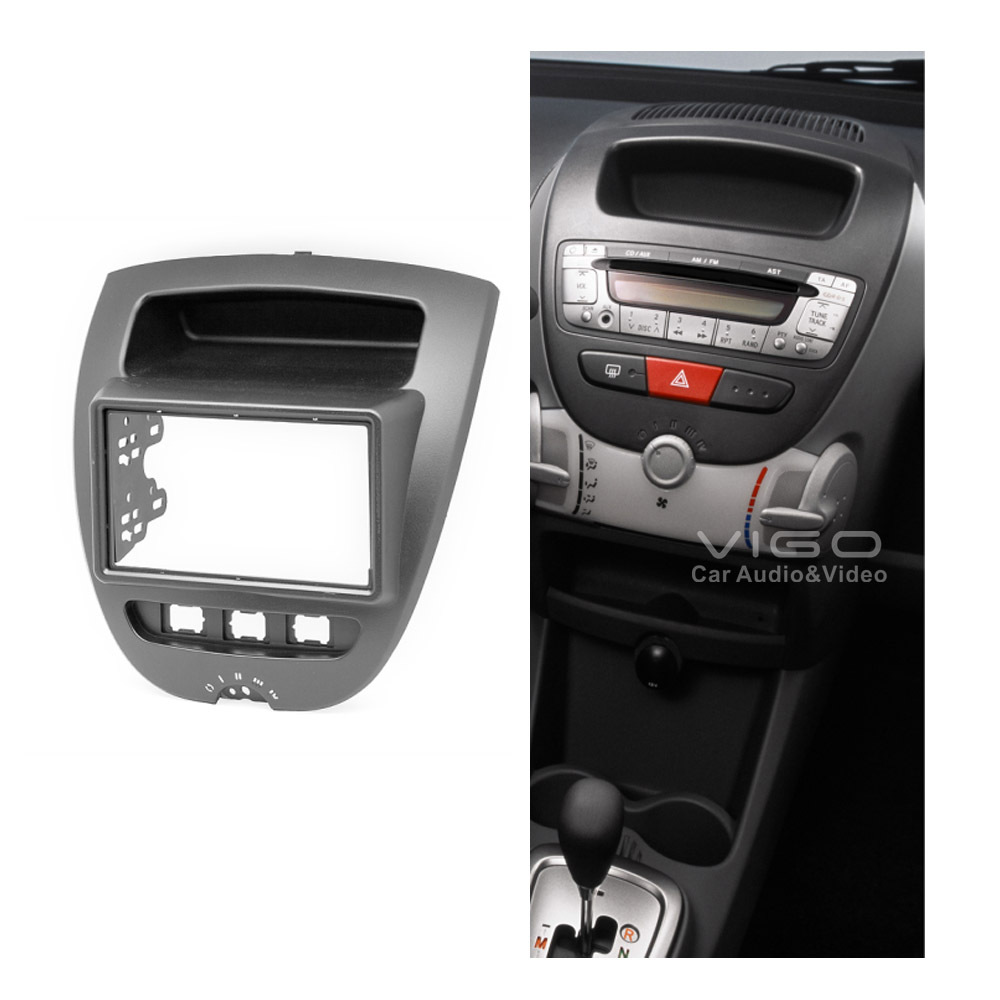 11 167 radio fascia panel for citroen c1 toyota aygo. Black Bedroom Furniture Sets. Home Design Ideas