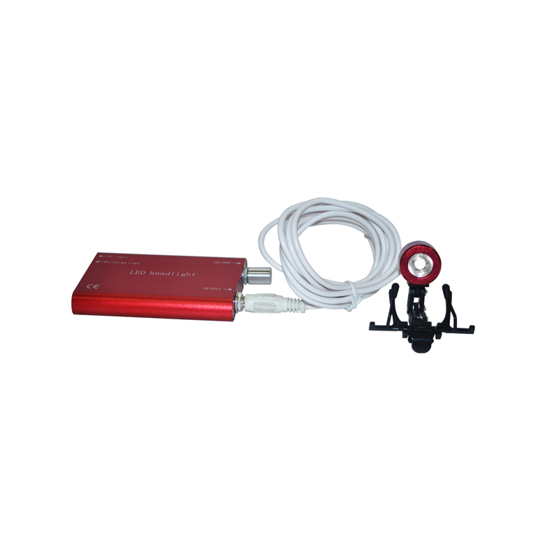 ФОТО New Arrival Hot Sale Portable Red Head Light Lamp for Dental Surgical Medical Binocular Loupe
