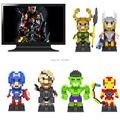 Iblock fun loz diamante blocos de brinquedo blocos de construção juguetes capitão américa e hulk e niky fúria e homem de ferro e loki e thor