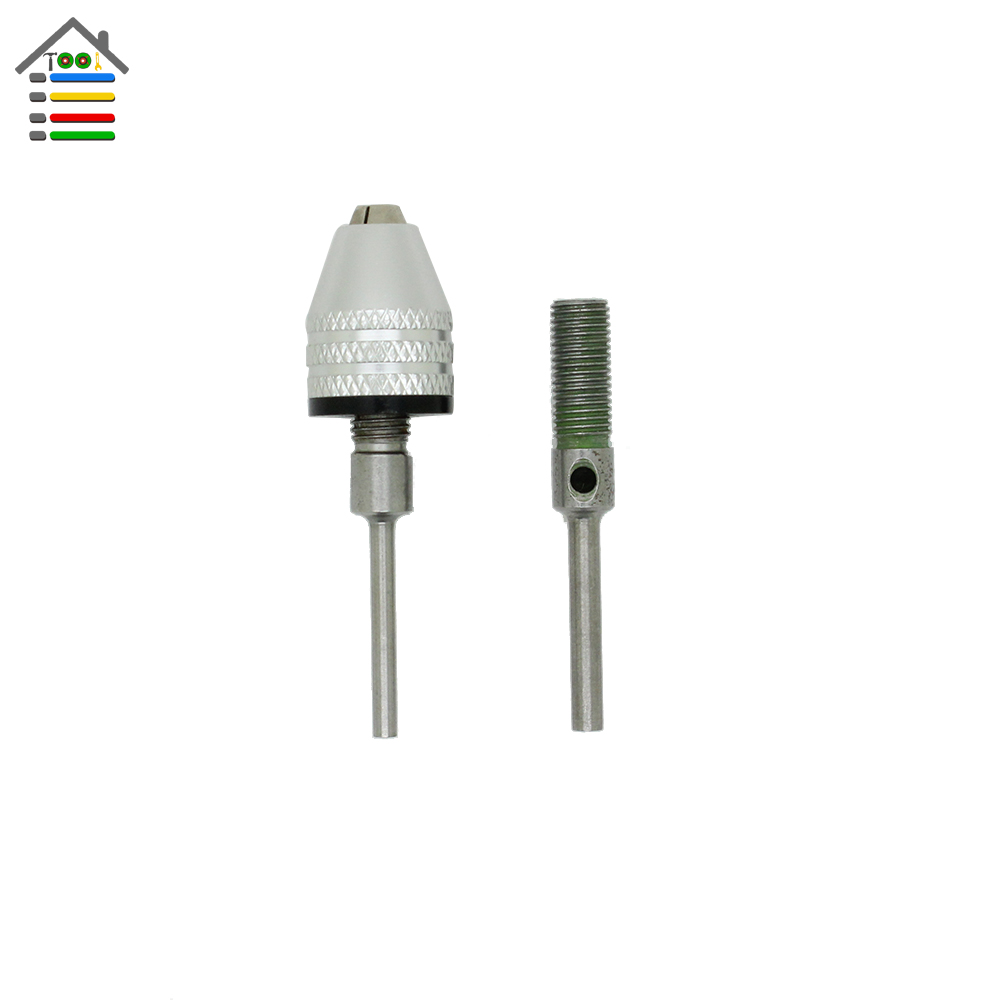 New Mini Keyless Drill Chuck Capacity 0.5-4mm With 2.3mm and 3mm Connecting Rod Shank For Dremel Electric Grinder Rotary Tool new arrival copper keyless chuck for 3 17mm electric motor shaft mini chuck capacity 0 3mm 3 5mm fit micro drill bit