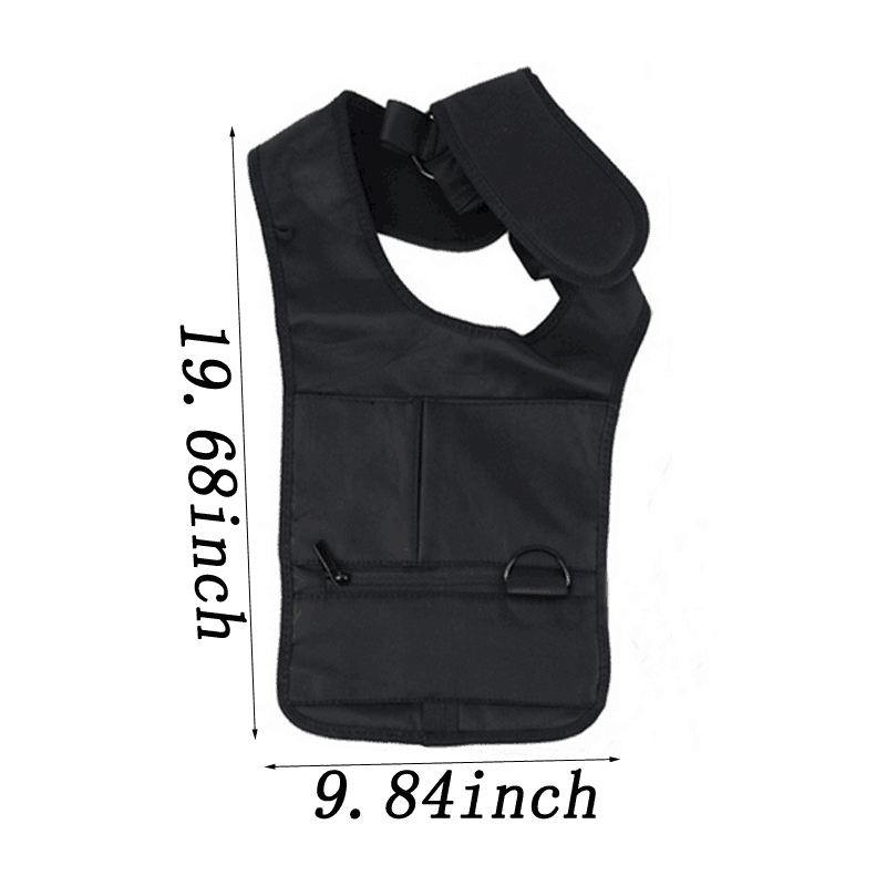 USDROPSHIP Multifunction Men Travel Anti Theft Hidden Underarm Shoulder BagBlack Nylon Pocket Mp3 Mobile Phone Storage Organizer