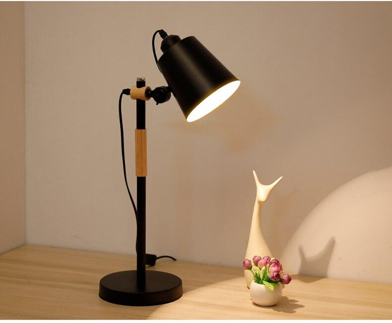 wood desk lamp black