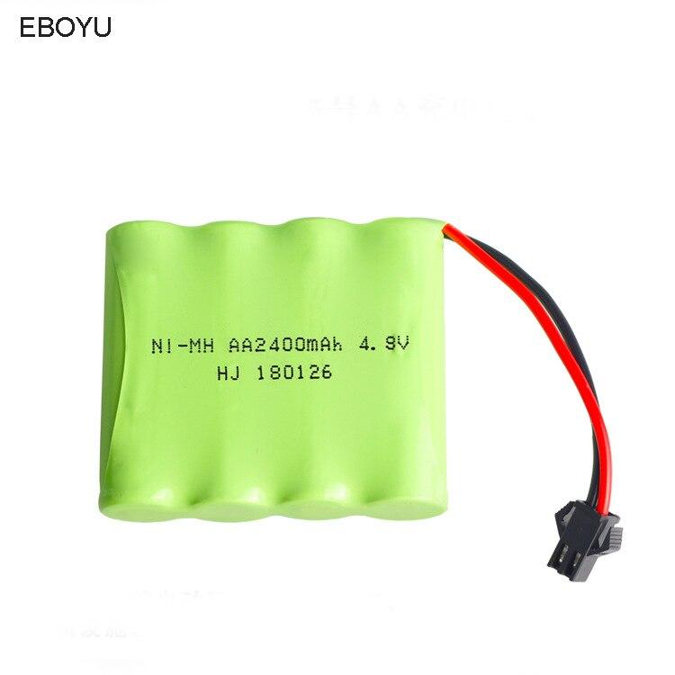 EBOYU 4.8 V 2400 mAh Ni-Mh Ricaricabili AA Battery Pack SM 2 P Spina per RC Auto e Altri Simili Giocattoli di Controllo remoto