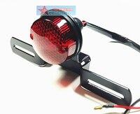 Akcesoria motocyklowe zamontować retro metalowa tylna lampa światła hamowania tablicy rejestracyjnej hamulca tylna lampa do harleya suzuki CG125 GN125 na