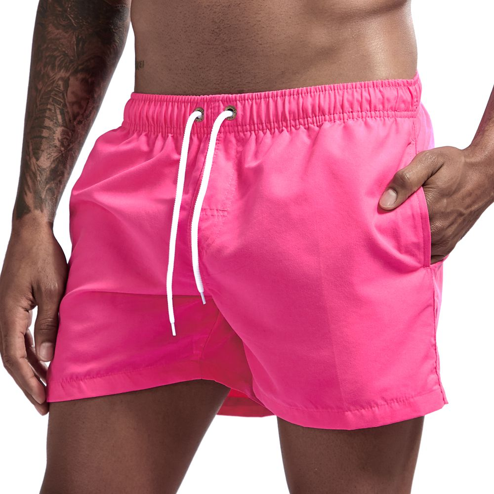 JOCKMAIL Brand Board Shorts Men Breathable Sport Swimming Shorts Solid Color Elastic Waist Beach Shorts Summer Swim Shorts