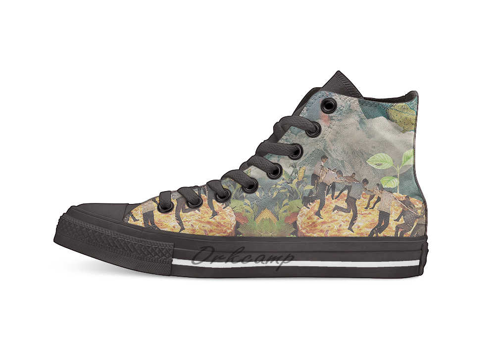 Pompeii عارضة عالية أعلى حذاء قماش أحذية رياضية ضوء أحذية مشي