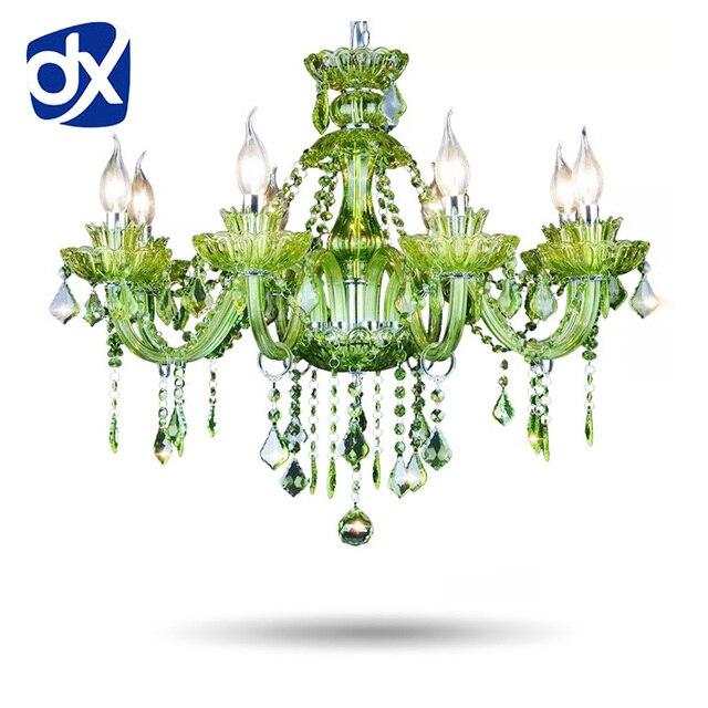 Hohe Qualität Grün K9 Kristallleuchter Lustre Kristall Kronleuchter Licht  Lüster De Cristal Kronleuchter LED Villa Grüne