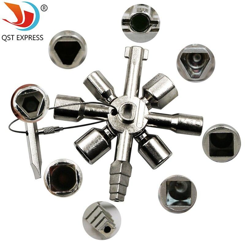 Neue art unktion schlüssel Quer schlüssel mit 1 Kette 10 profile deutschland qualität CNC Schlüssel Elektrische Box key Zug tür schlüssel als gezeigt