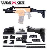 Trabajador f10555 3D Impresión No. 107 Tubo del Frente Hombro Stock Profesional Pistola de Juguete Accesorios para Nerf Stryfe-Negro