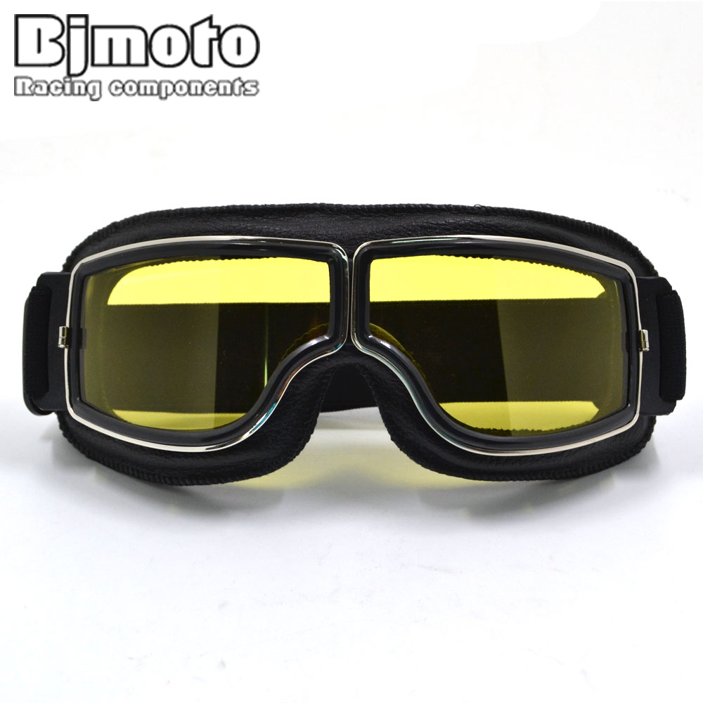 BJMOTO Vintage style Harley Motorcycle goggles Windproof Glasses for motocross Cycling Moto Sport Glasses Aviator Pilot Cruiser все цены