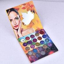 Popular global fashion 25 color sequins stage eye makeup dish glitter powder mermaid Ji shadow plate hot sale