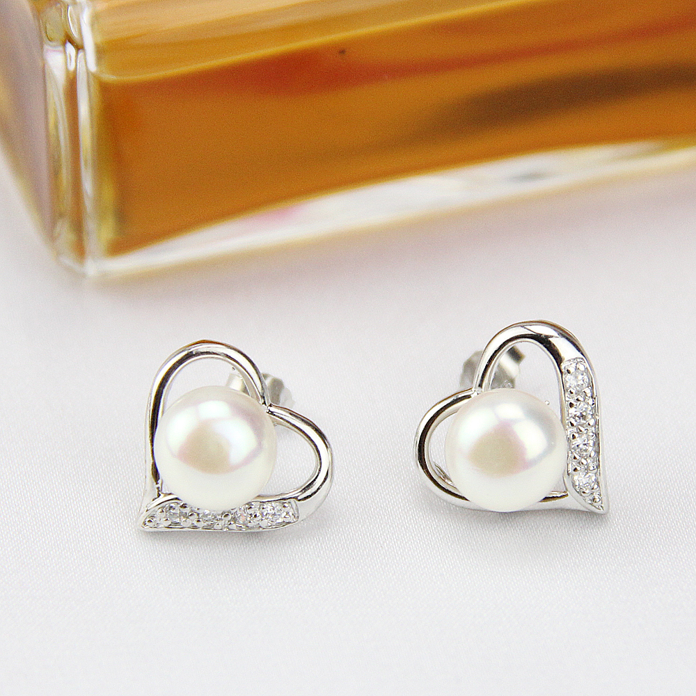 asp stud p floral shaped earrings heart gold
