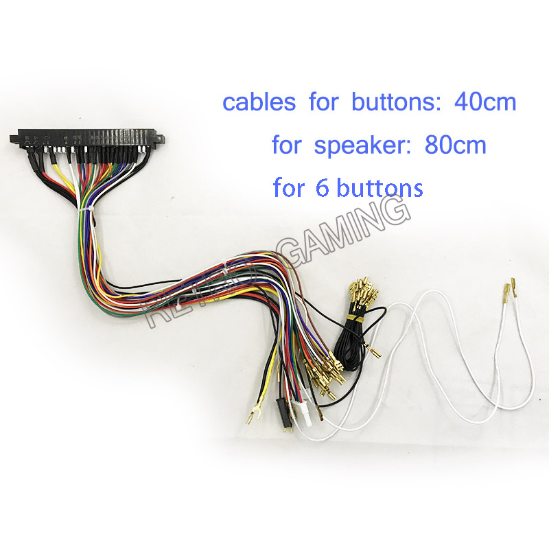 US $10.11 |40cm Jamma Harness 28 pin with 5,6 buttons wires for chis on