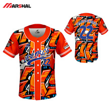Customized Design Mens Camisas De Baseball Jersey Maillot Homme Sublimated Sportswear Training Shirt