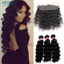 Rosa hair products 13×4 lace frontal closure with 3 bundle deals deep wave hair lima peru hair lace front human deep weave wig