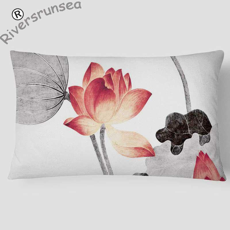 Abstraction Meditation Pillow Deep Thought Zen Garden Artificial Lotus Flower Home Decor Chinese Style Chair Cushion Headrest