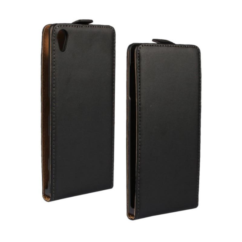 Genuino cuero Flip caso de la cubierta para Sony Xperia Z5 Z5 Premium Z5 compacto Z5 Mini Z4 Z3 Z2 Z2 Mini z1 Mini con cierre magnético