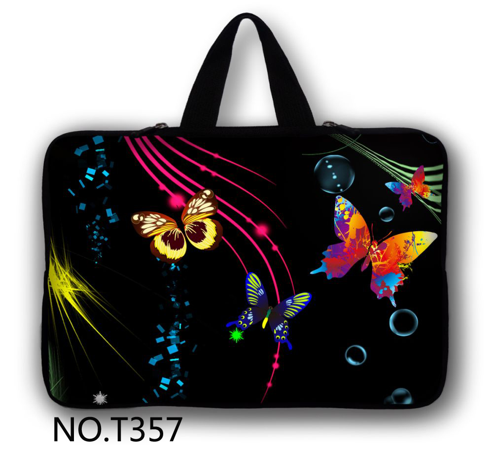 Butterfly New Soft Sleeve Bag Case For Apple Macbook Air Pro Retina 11 12 13 15 17 Laptop Cover For Mac Book 13.3 Inch