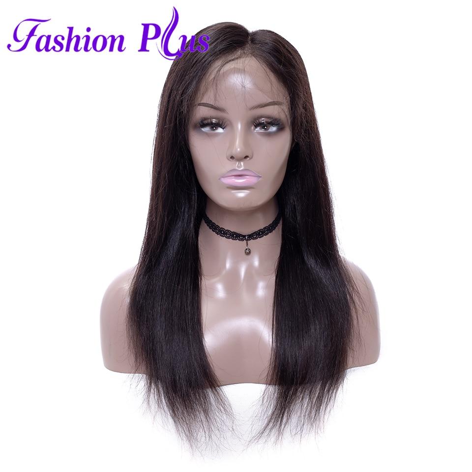 Módní plus Malajský plný čipky lidské vlasy paruky Malajské - Lidské vlasy (pro bílé)