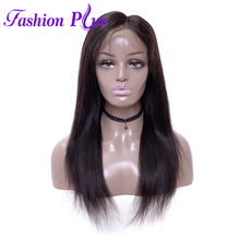 Fashion Plus Malaysian Full Lace Human Hair Wigs Virgin Straight For Black Women With Baby