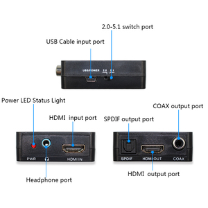 Image 5 - HDMI Audio Extractor HDMI to HDMI with Optical TOSLINK SPDIF +3.5mm Stereo Audio Extractor Converter HDMI Audio Adapter