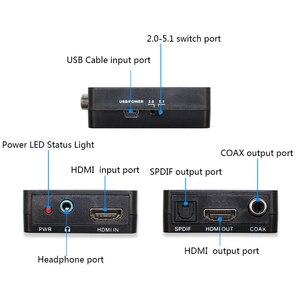 Image 5 - HDMI аудио экстрактор HDMI в HDMI с оптическим TOSLINK SPDIF + 3,5 мм стерео аудио экстрактор конвертер HDMI аудио адаптер