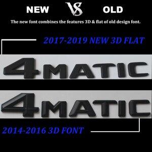 Image 4 - Черная плоская 3D наклейка эмблема W176 W177 A45 A180 A200 A250 Автомобильные буквы задняя звезда багажника 4matic Эмблема для Mercedes Benz AMG