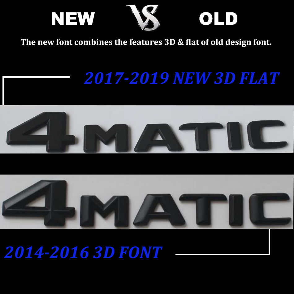 Image 4 - Black Flat 3D W176 W177 Emblem Sticker A45 A180 A200 A250 Auto Car Letters Trunk Rear Star 4MATIC Emblema For Mercedes Benz AMG-in Emblems from Automobiles & Motorcycles