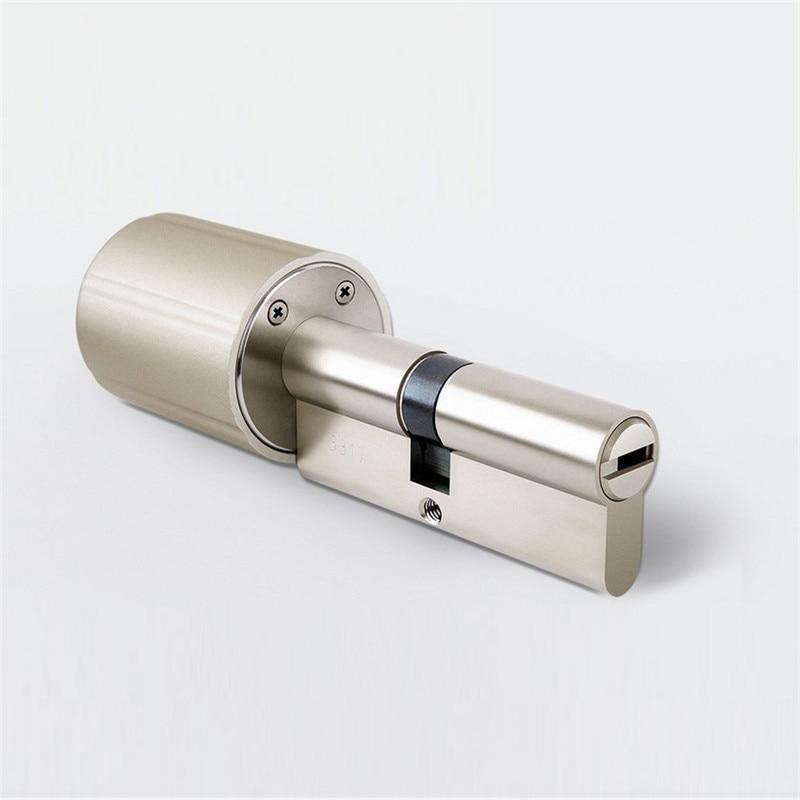 Cylindre de serrure Intelligent intégré électromécanique serrure de porte intelligente de sécurité cryptage 128 bits avec clés